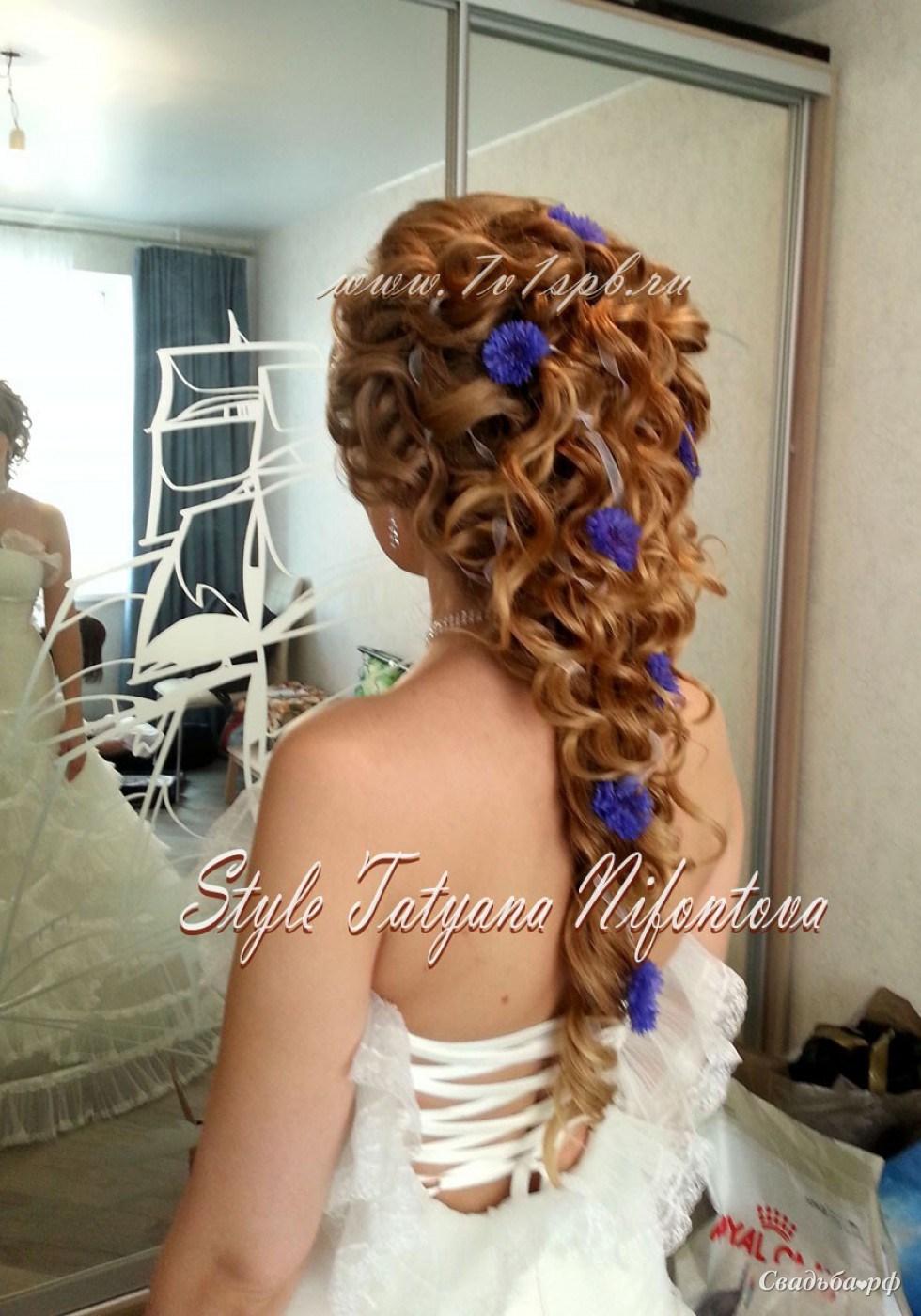 Фото свадебных причесок на длинные волосы для детей